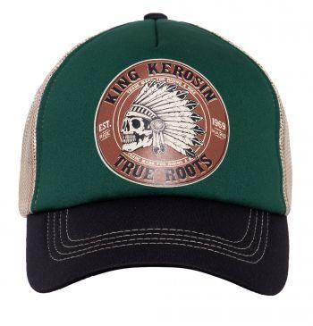 Trucker Cap von King Kerosin - True Roots , Grün/schwarz