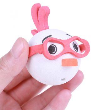 Antennenball-Huhn mit Brille / rot
