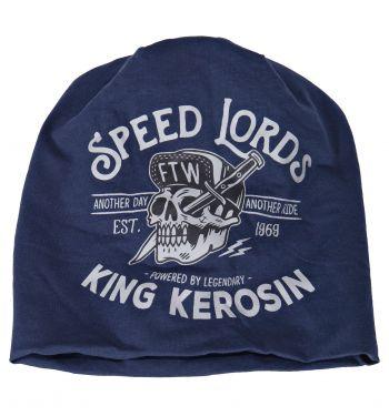 Beanie Stoffmütze von King Kerosin - Speed Lords / blau