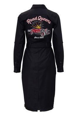 Workwear Kleid von QUEEN KEROSIN - Road Queen / schwarz