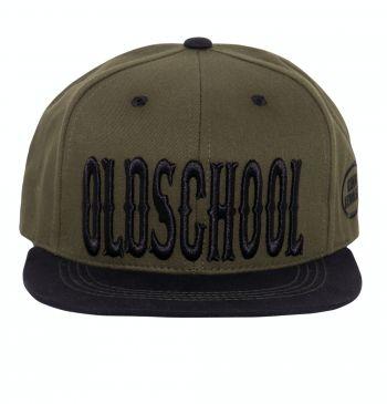 Snapback / Flat Cap von King Kerosin - Oldschool / grün-schwarz