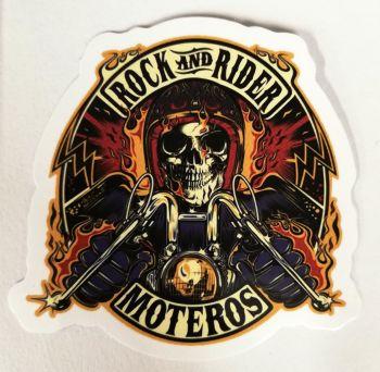 Vintage Sticker Rock and Rider, Moteros / klein