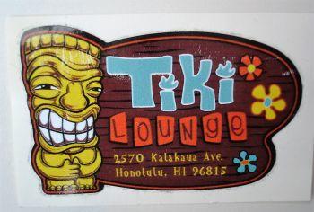 King Kerosin Sticker / Tiki Lounge-klein