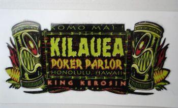 King Kerosin Sticker Kilauea Poker Parol /klein