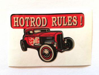 King Kerosin Sticker Hot rod Rules /klein