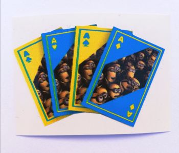 Sticker- Minion Card's / klein