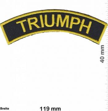 Patch - TRIUMPH Curve / Black-Gold