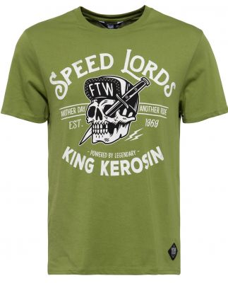 King Kerosin Regular T-Shirt / Speed Lords - Cactus grün