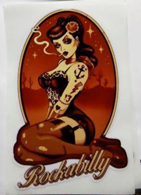 Pin up Sticker - Rockabilly / Vintage Girl