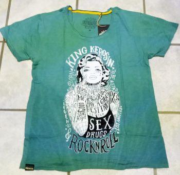 Watercolor-Shirt von King Kerosin Smokeblue  / Tattoo Girl