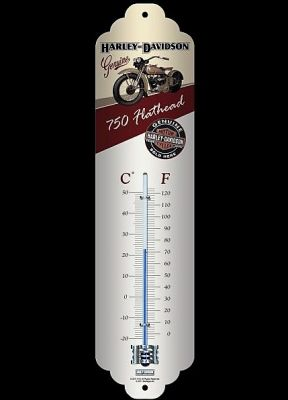 Vintage Thermometer - Harley-Davidson Flathead