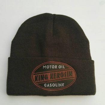 Beanie Strickmütze von King Kerosin - Motor Oil / Gasoline - grün