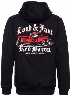 King Kerosin Bestickte Hoodie Jackets - Red Baron / Limited Edition