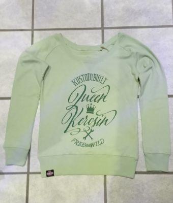 Sweatshirt von Queen Kerosin - Free & Wild / grün