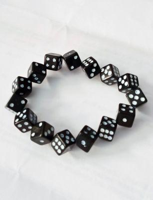 Rock Daddy Armband / Würfel Armband - Schwarz