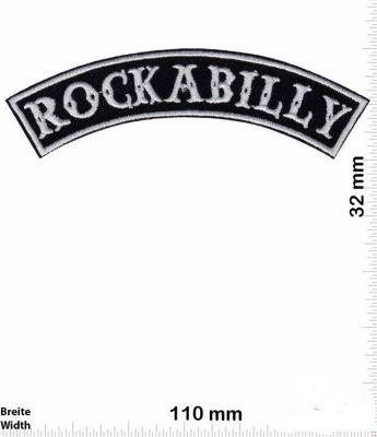 Patch - Rockabilly / Schriftzug Silber