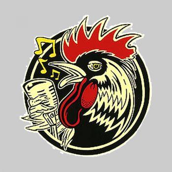 Kruse Rockabilly Rooster Sticker RKS35
