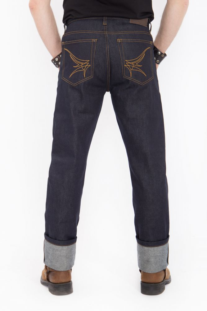 king kerosin denim jeans hose selvedge latzhos. Black Bedroom Furniture Sets. Home Design Ideas