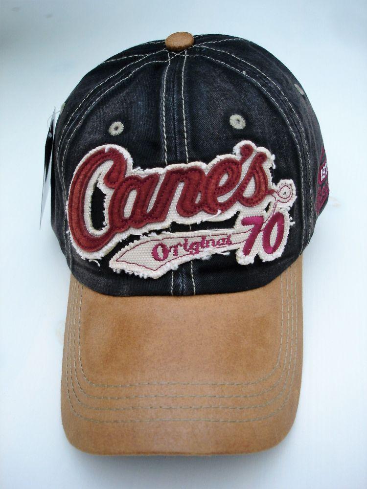 2e16cb96079a9 Vintage Trucker Cap - Cane`s 70er Original black brown