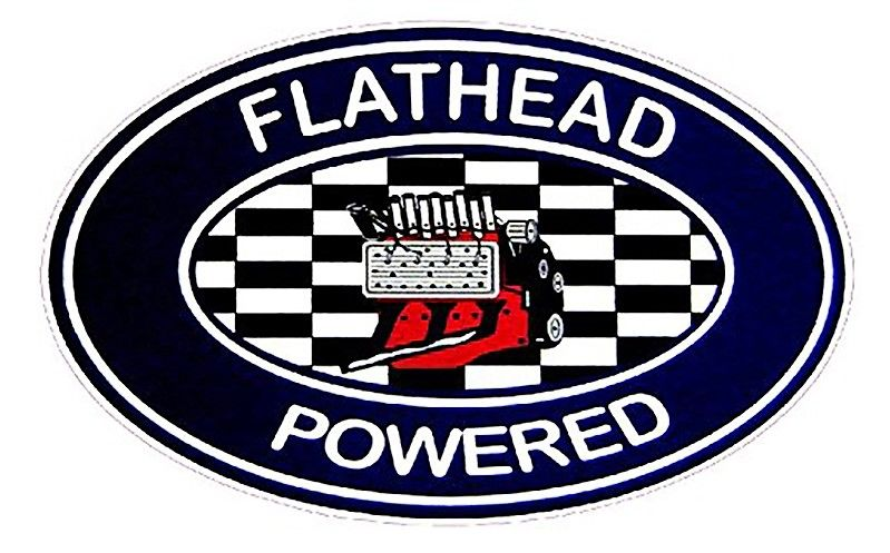 Vintage Race Sticker - Flathead Powered