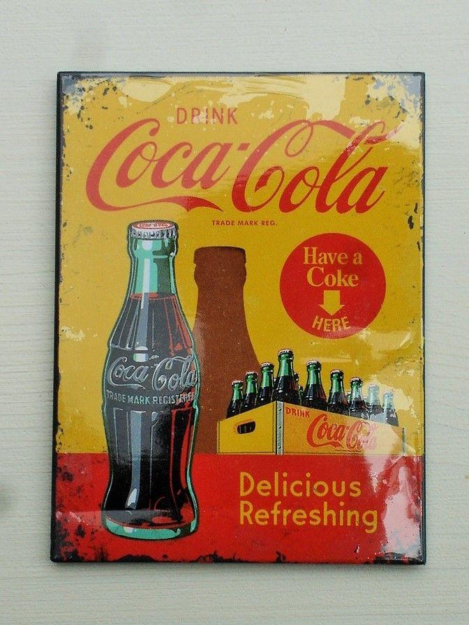 Magnet 14321 Neu - 8 X 6 cm Coca-Cola In Bottles Yellow
