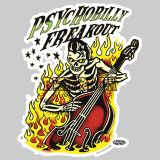 Vince Ray Psychobilly Freakout Sticker VRS35