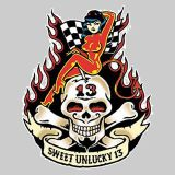 Vince Ray Sweet Unlucky 13   Sticker - VRS15