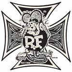 Rat Fink  Decal - Rat Fink on Malteser Cross