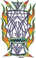 VON FRANCO Pinstripe Tiki Sticker VFS021