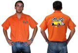 Race Gear Worker Shirt :  Ws2-Lrs / orange