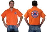 Race Gear Worker Shirt :  Ws2-25 / orange