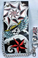 Rock Rebel Wallet with Chain  W-RRlb Ink
