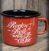 Emaille Tasse / Becher von Rumble59  - R'n'R Until I Die