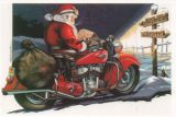 X-Mas Cards Motorcycle  X - 164