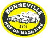 Vintage Race Sticker - Bonneville1951 Hop Up Magazine