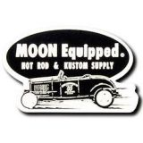 Race Sticker  St - moon Hot Rod & Kustom Supply / black