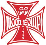 Race Sticker St - moon Malt.Cross Red  /S