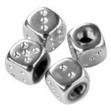 Air Valve Caps - Chrome Dice