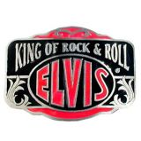 King of Rock`n`Roll Red Buckle