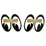Race Sticker  St - moon paar Augen