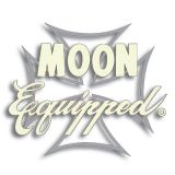 Race Sticker  St - MOON Equipped Iron Cross / silber
