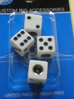 Dice Air Valve Caps - white