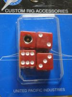 Dice Air Valve Caps - Red