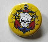 Button - Sailor Skull