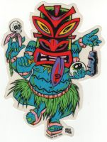 Alain Forbess Sticker -  Tiki ?
