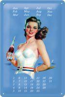 Nostalgie Blech Kalender  - Pepsi Pinup Girl