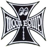 Patch - Moon Equip. Malteser Cross / black