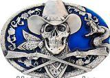 Buckle Cowboy Skull