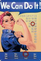 Nostalgie Blech Kalender - We can do it !