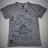 Mechanic-Shirt von King Kerosin - Lone Riders /grey